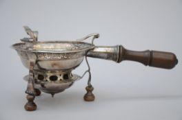 A silver brazier, Valenciennes 1755 (14x17cm) (*)
