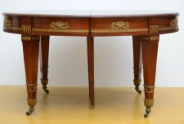 Empire style mahogany table with gilt bronze fittings (78x140x104 cm)
