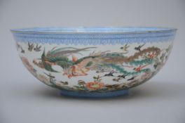Large bowl in Chinese eggshell porcelain (17x43 cm)