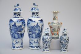 Lot: five Chinese vases (h 17-30 cm) (*)