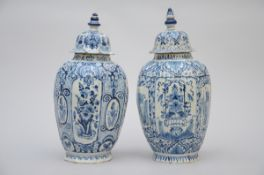 Two vases in Delft earthenware, 18th century (44 and 45 cm) (*)