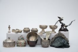Lot: Chinese silver objects