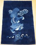 Chinese wool carpet 'Foo dog' (182x125 cm)