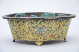 Chinese planter in cloisonné (7x20x14.5 cm) (*)
