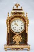 Cartel clock with inlaywork, assembled (77x46x16 cm) (*)