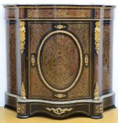 A Napoleon III cupboard with Boulle work (108x119x43 cm) (*)