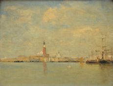 P.J. Clays: painting (o/c) 'view of Venice' (25x32 cm)