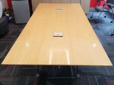 """TEKNION - BOARD ROOM TABLE W/ POWER AND ADJUSTABLE LEG LEVELERS - 48""""W x 108""""L x 29.5"""" H - (*NO"""