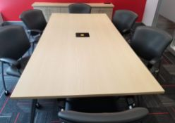 """TEKNION - BOARD ROOM TABLE W/ POWER AND ADJUSTABLE LEG LEVELERS - 48""""W x 96""""L x 29.5"""" H - (*NO"""