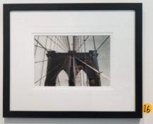 "FRAMED BLACK AND WHITE PHOTOGRAPH - 27""H x 22""D"