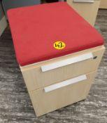 TEKNION - MOBILE FILE/STORAGE PEDESTAL W/ SEAT