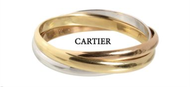 bracelet, classic by CARTIER from the series TRINITY (middle model), yellow gold/white ...