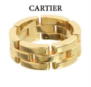 ring by CARTIER Maillon de Panthère, yellow gold 750/000, signed: Cartier 819368, ring width ...