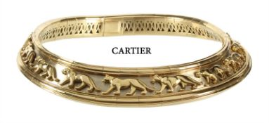 pharaoh-necklace, CARTIER Model Panthère, yellow gold/white gold 750/000, signed 68359 Cartier ...