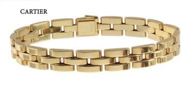bracelet by CARTIER Maillon de Panthère, yellow gold 750/000, signed: Cartier 858645, box ...