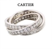 ring classics from the CARTIER series TRINITY, white gold 750/000, signed: Cartier 829934, 96 ...