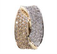 pendant, yellow gold/white gold 585/000, 106 brilliants c. 1.0 ct TC (tinted white)-p, c. 14.3 ...
