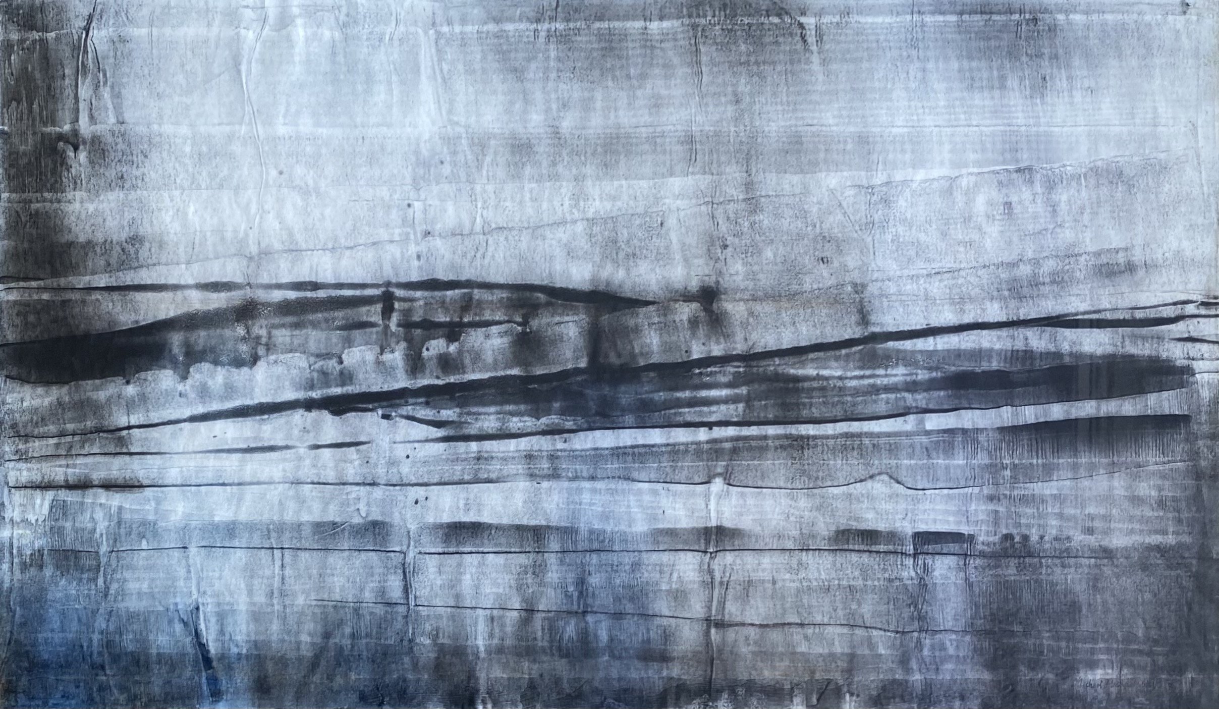 Michael Michaeledes (Cypriot/British, 1922 - 2015) (AR), untitled 1958, ink on paper, 45 x 77 cm.