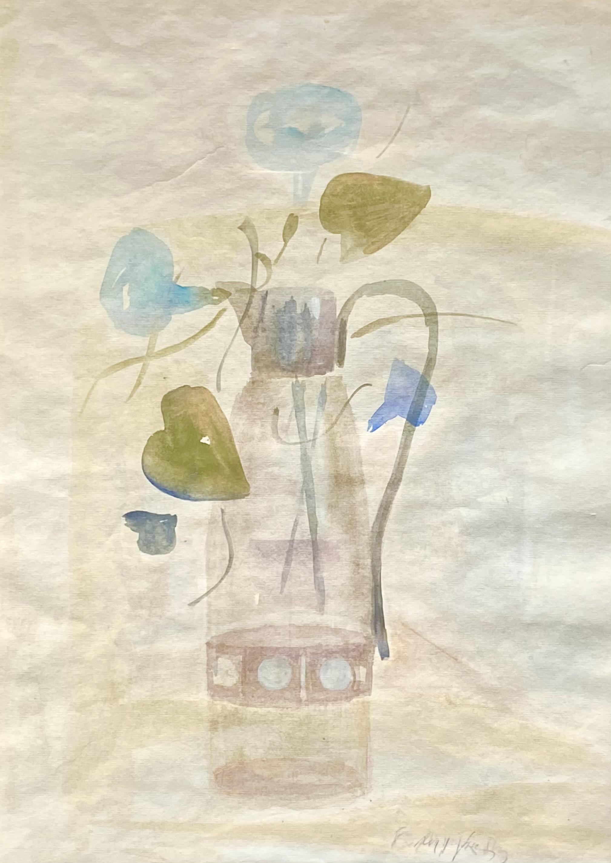 Yiannis Migadis (Greek, 1926-2017) (AR), Still life, watercolor on paper, 40 x 30 cm.