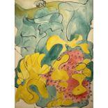 Michael Lekakis (Greek-American, 1907-1987) (AR), untitled, 1947, watercolor and ink on paper