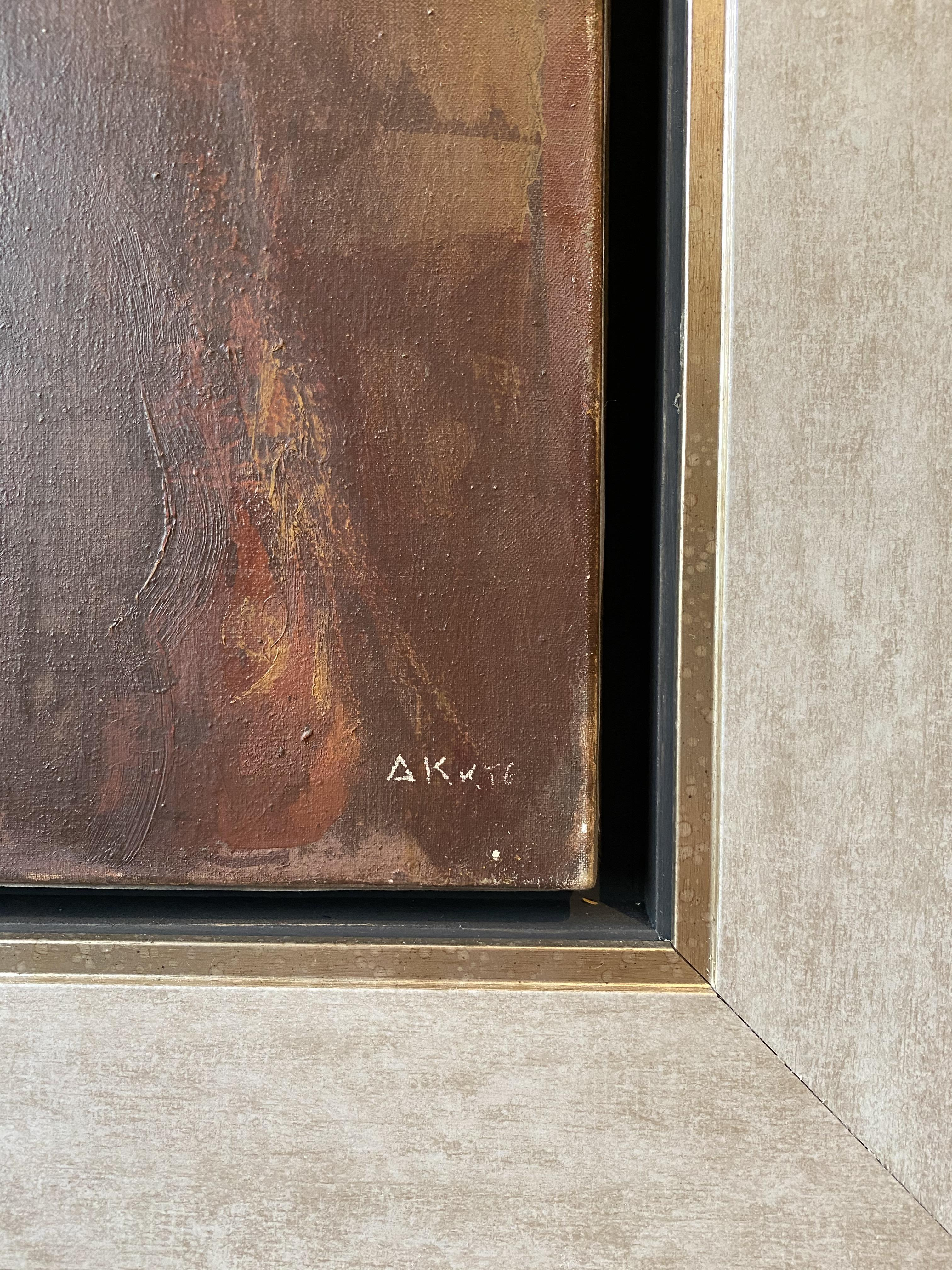 Dimitris Katsigiannis (Greek, born 1960) (AR), A Lady with a box,oil on canvas, 79 x 60 cm. - Image 3 of 3