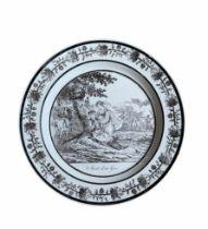 """A French Philhellenic porcelain plate """"Mort d'un Grec"""""""