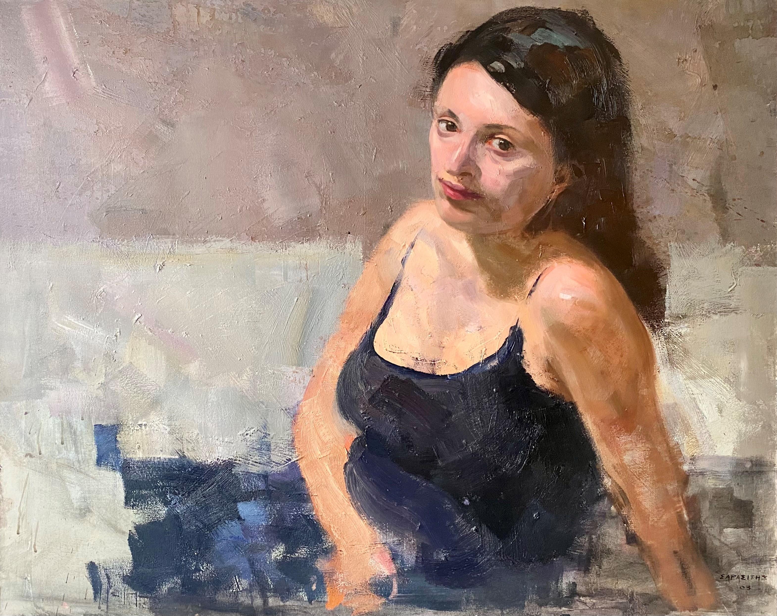Dimitris Sarasitis (Greek, born 1963) (AR), Woman, 2003, oil on canvas, 80 x 100 cm