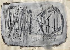 Theodoros (Papadimitriou) (Greek, 1931-2018) (AR), untitled, 1963, acrylic on paper, 35.5 x 49.5 cm.