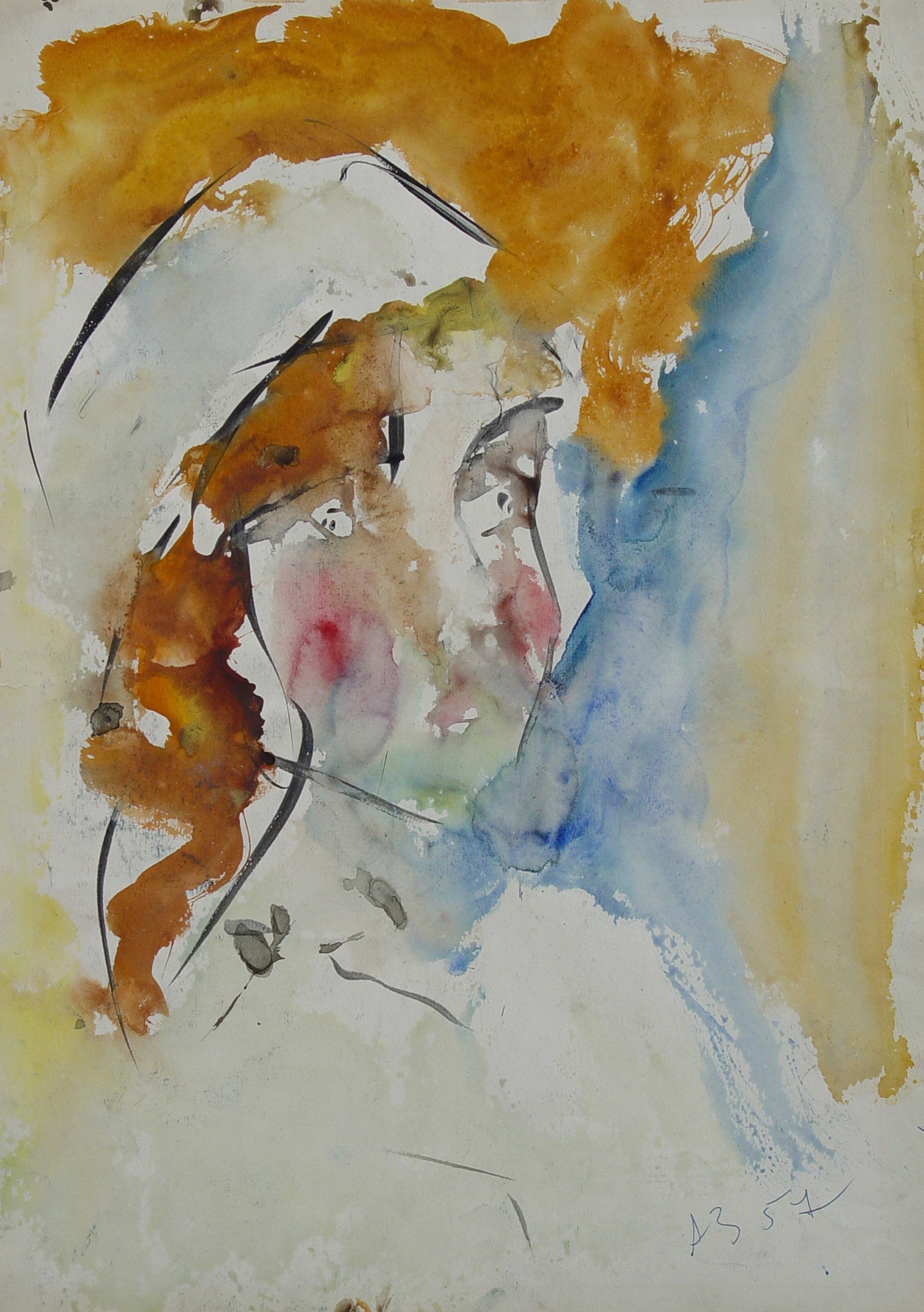 Anatoly Zverev (Russian, 1931-1986) (AR), untitled, watercolor on paper, 60 x 42 cm.