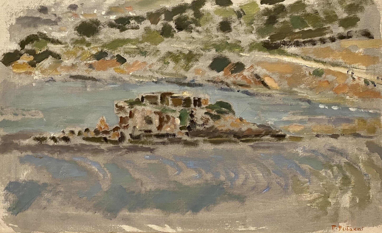 Panos Fidakis (Greek 1956-2003) (AR), Landscape, acrylic on canvas, 28 x 45,5 cm.