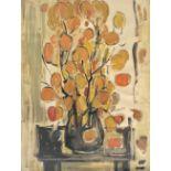 Clio Natsi (Greek, born 1929) (AR), Still life, pastel on paper, 66 x 49 cm.