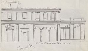 Yiannis Tsarouchis (Greek, 1910-1989) (AR), a drawing for a house in Patision