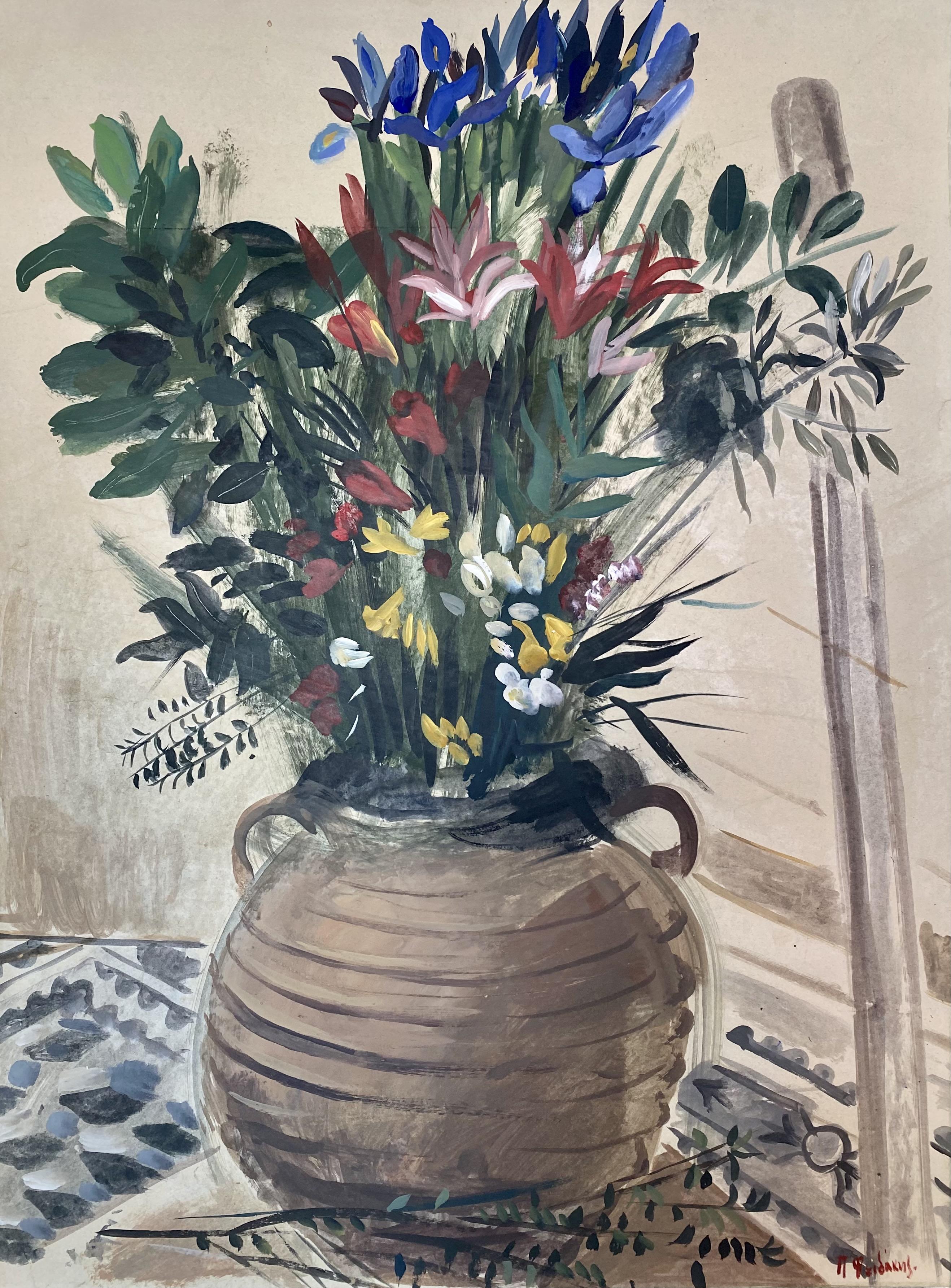 Panos Fidakis (Greek 1956-2003) (AR), Still life, oil on paper mount on canvas, 97 x 72 cm.