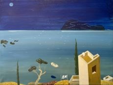 Ilias Papanikolaou (Greek, born 1974), Romantic, 2010, acrylic on canvas, 60 x 80 cm.
