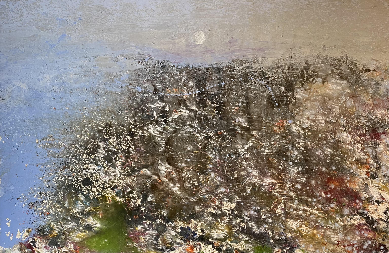Vangelis Rinas (Greek, born 1966) (AR), untitled, acrylic on paper mount on canvas. 65 x 100 cm.