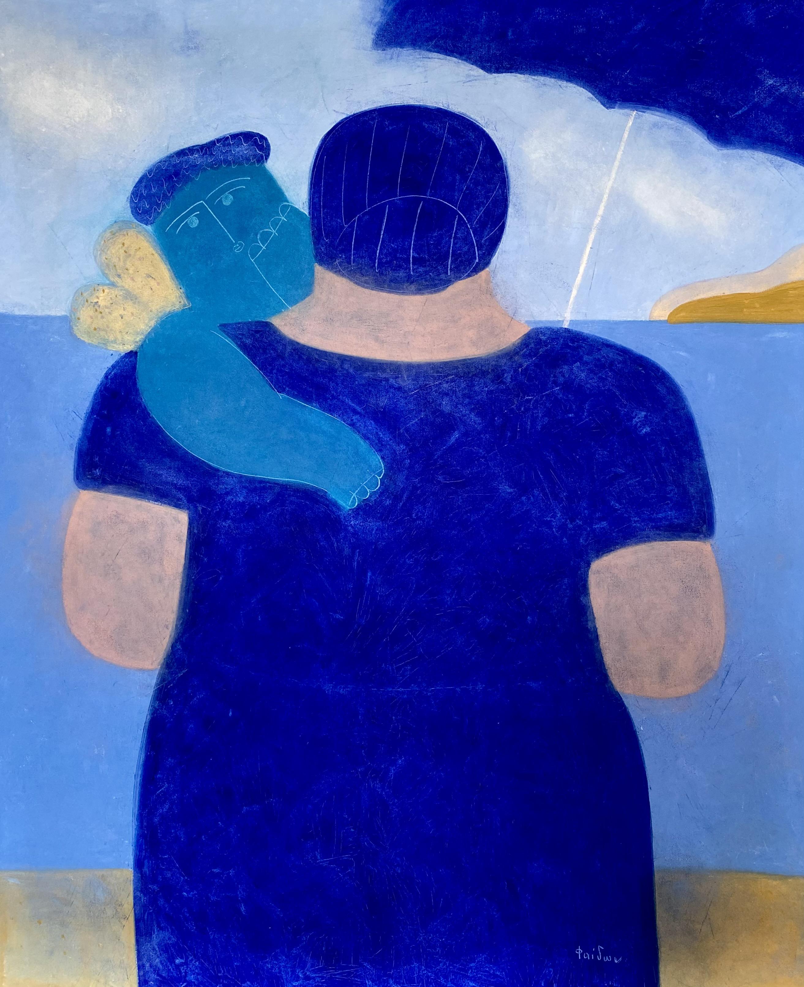 Faidon Patrikalakis (1935-2017) (AR), untitled, oil on canvas, 120 x 100 cm.