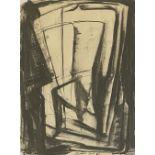 Yerassimos Sklavos (Greek, 1927-1967) (AR), untitled, 24.11.1961, ink on paper. 27.5 x 21 cm.