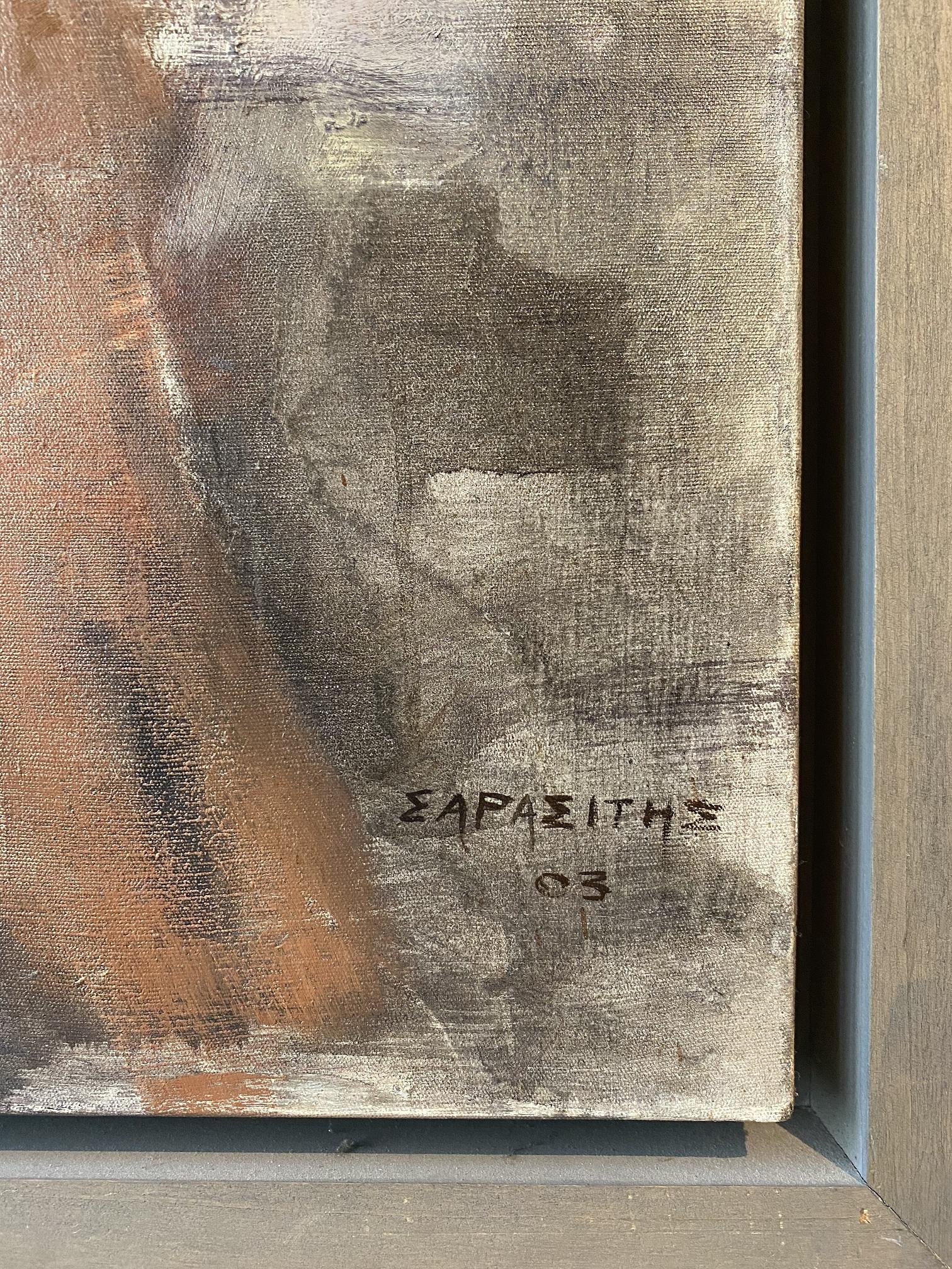 Dimitris Sarasitis (Greek, born 1963) (AR), Woman, 2003, oil on canvas, 80 x 100 cm - Image 2 of 2