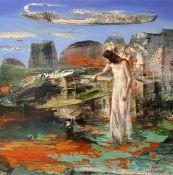 Vangelis Rinas (Greek, born 1966) (AR), untitled, oil on canvas, 60 x 60 cm.