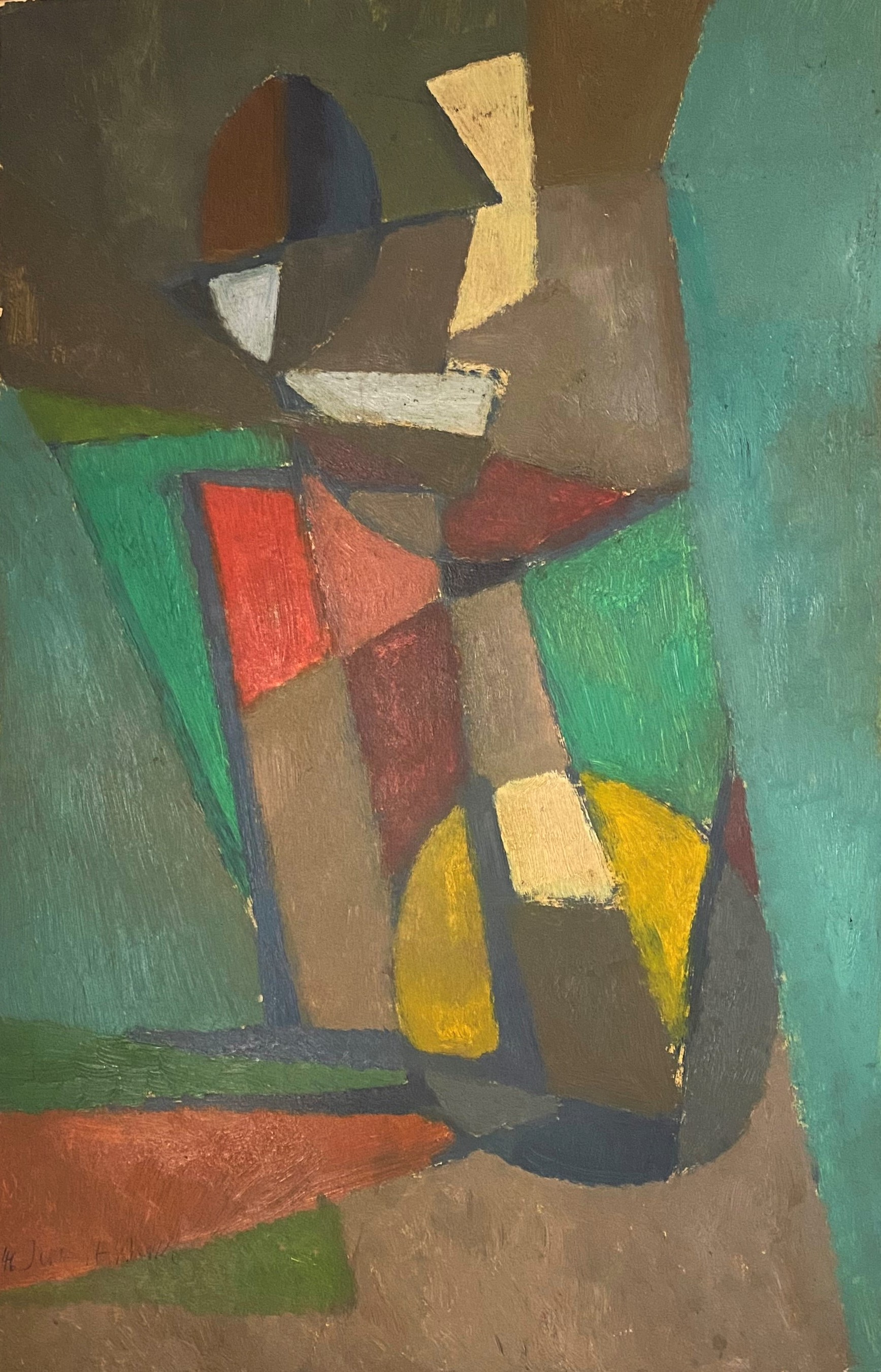 Hubert Berke (German, 1908–1979) (AR), untitled, 1946, oil on cardboard, 48 x 30 cm.