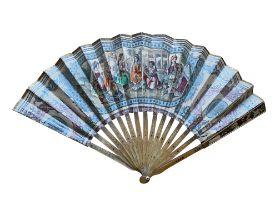A lithographic Ottoman Fan. Dimensions: 23 cm (H) x 38 cm (W).