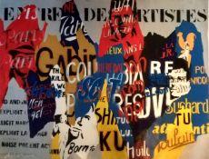 «Entrée des artistes» de Norbert Delorme Artiste peintre français Huile sur toile [...]