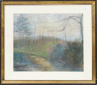 Forêt Pastel sur papier signé en bas à droite représentant une forêt. Encadré [...]