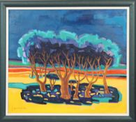 """""""Pin Parasols du Gadou"""" de Georges Arnold (1920-2018) Artiste peintre [...]"""