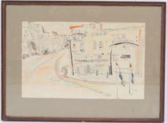 """""""Gare"""" de Ger Maas (1931-2020) Artiste peintre luxembourgeoise, membre du CAL Dessin [...]"""