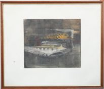 """""""La chose"""" de René Carcan (1925-1993) Peintre et graveur belge Lithographie [...]"""