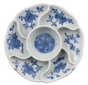 CHINESE BLUE AND WHITE PORCELAIN SWEETMEAT DISH, QIANLONG PERIOD, 18TH CENTURY