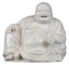CHINESE BLANC DE CHINE PORCELAIN MODEL OF BUDHAI, QING DYNASTY