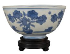 CHINESE BLUE AND WHITE PORCELAIN BOWL, MING DYNASTY, 16th CENTURY