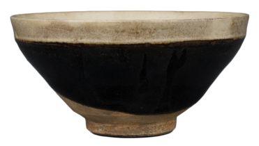 CHINESE CIZHOU BLACK-GLAZED TEA BOWL, SONG DYNASTY